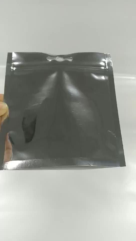 Neue Design individuell bedruckte Kunststoff Mylar Verpackung Reißverschlusstasche für Kopfhörer Lebensmittelqualität