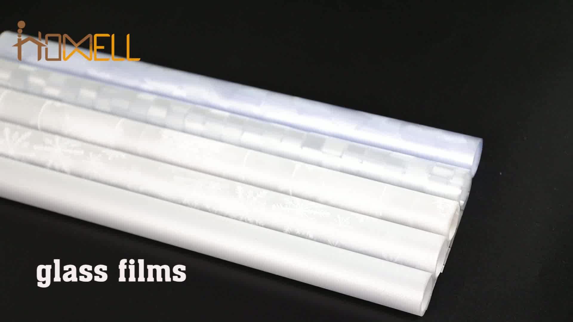 P015w स्थिर खिड़की शीट इंद्रधनुष पीवीसी फिल्म पुन: प्रयोज्य खिड़की फिल्म