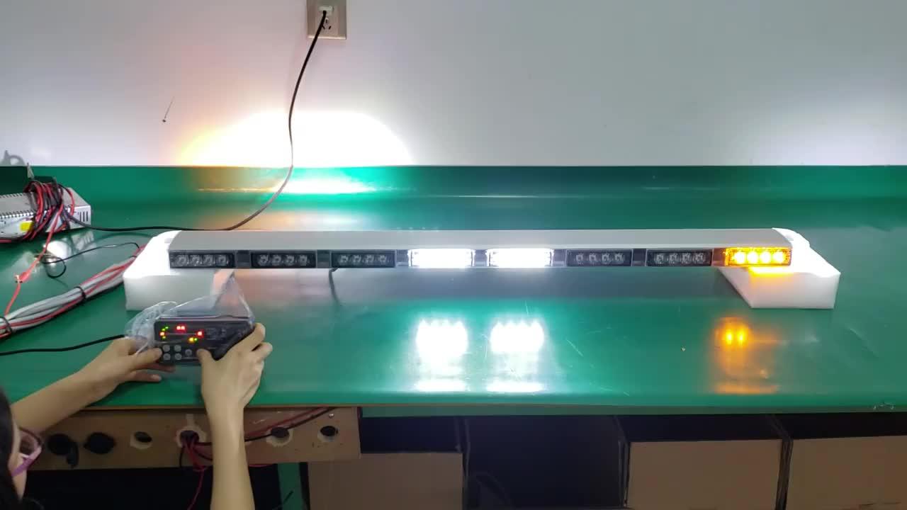 Slim e comprimento personalizado telhado barras de luz estroboscópica para veículos de emergência