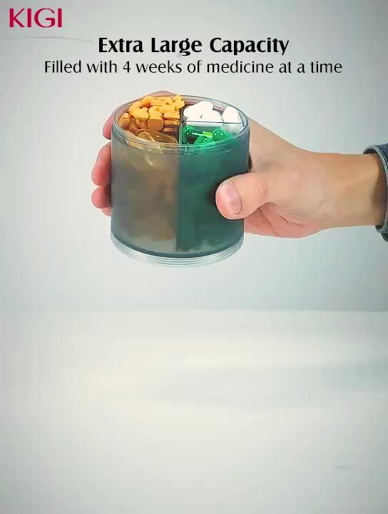 أسبوعي/شهري الطب الذكية الكبيرة مستديرة البلاستيك مخصص أسبوع واحد 7 أيام حبة صندوق Pastillero