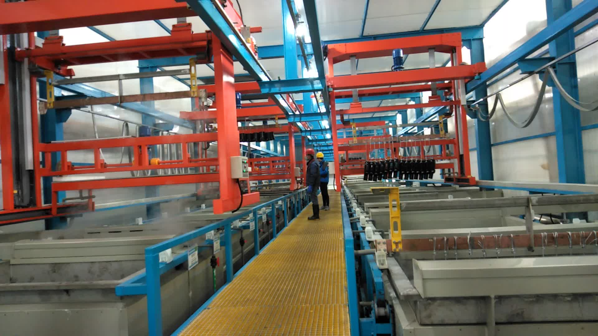 Full automatic gantry type rack plating zinc plating line for metal parts