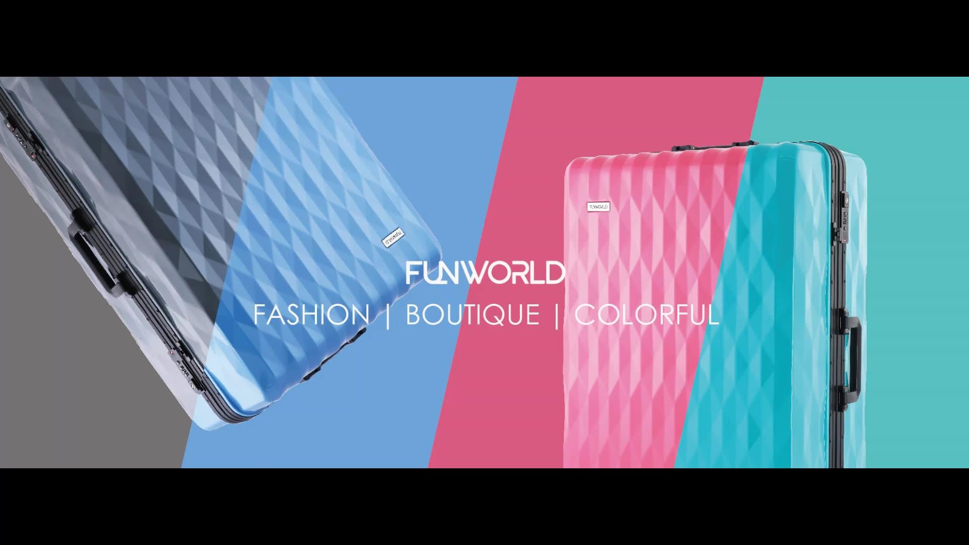 "FUNWORLD PC + ABS 20 ""מסגרת אלומיניום 4 גלגל ספינר קסם סגול מטען עבור נסיעות"
