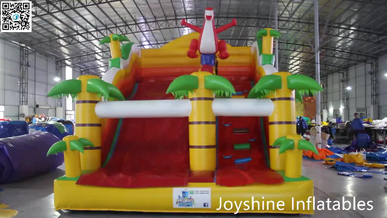 Dubai Outdoor Playground Big Inflatable Stairs Water Slide For Children