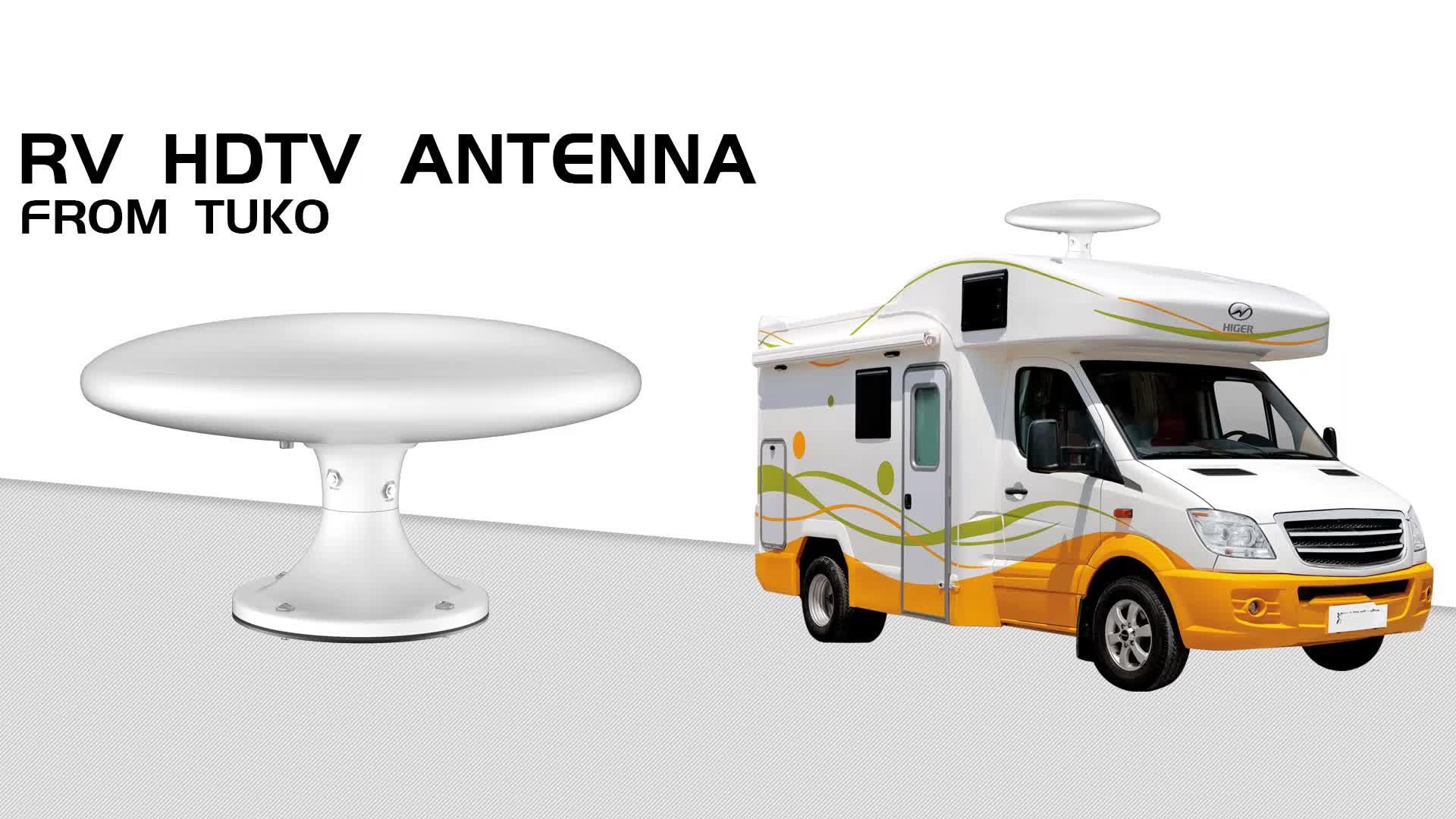 Wholesale the newest omni-directional waterproof 1080P 4K Free digital fm vhf uhf outdoor RV TV antenna