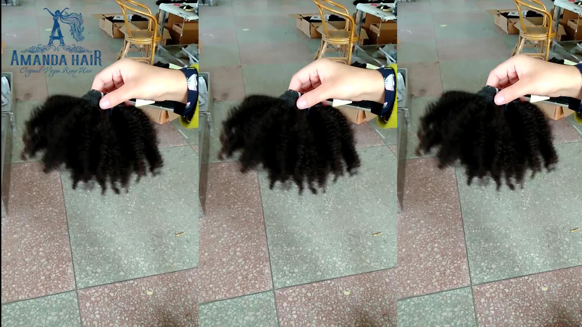 बाल विस्तार आपूर्तिकर्ताओं चीन रेमी मलेशियाई एफ्रो गांठदार कर्ल सीना में बंद होने के साथ मानव बाल बुनाई एफ्रो गांठदार थोक खरीदें