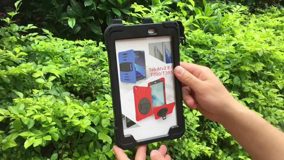Çocuk dayanıklı sağlam tablet kılıfı için 8 inç 360 rotasyon Samsung Tab aktif 2 8 inç SM-T390 tablet kapağı