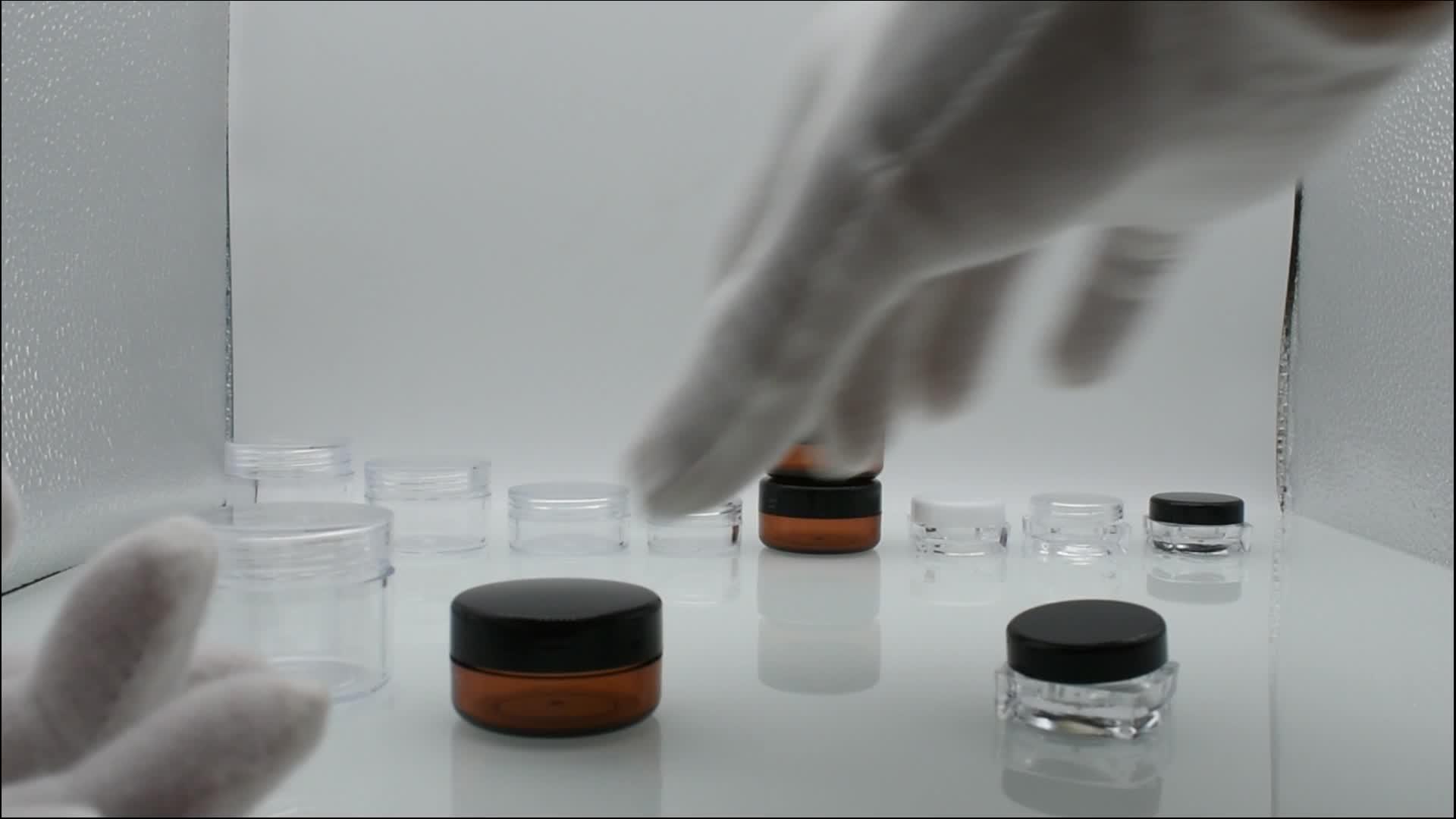 Leere 2ml 2g 2.5ml 3ml 5ml 10ml 2.5g 3g 5g 10g mini klar kunststoff ps jar 3ml creme jar kunststoff 5g 10g kunststoff glas für kosmetische