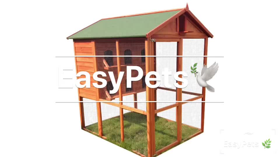 Hot Selling High-Caliber Natural Aviary Wooden Pigeon Cage