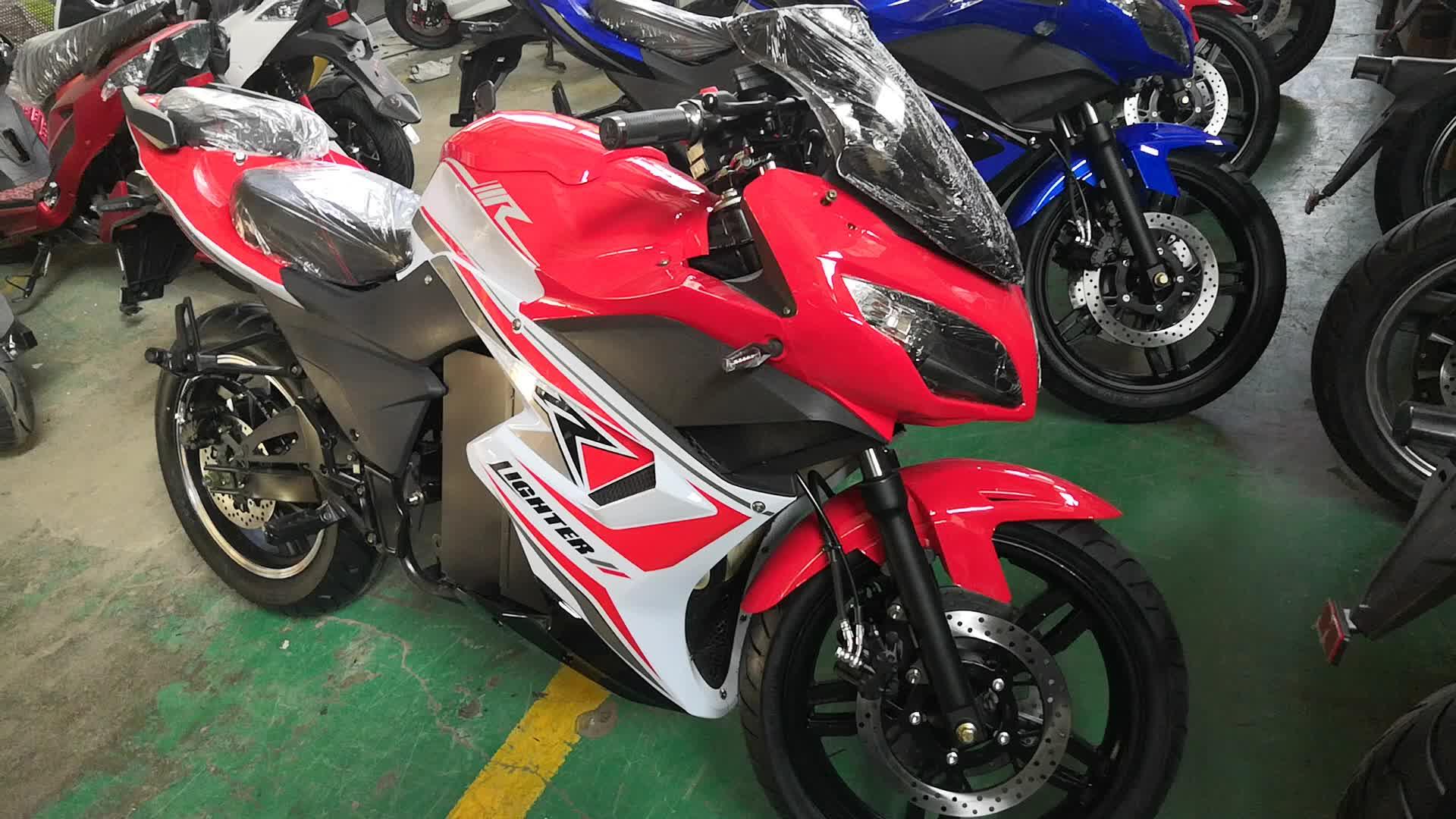 أزياء Longwise الصينية سكوتر كهربائي 72V 2000W الكهربائية دراجة نارية
