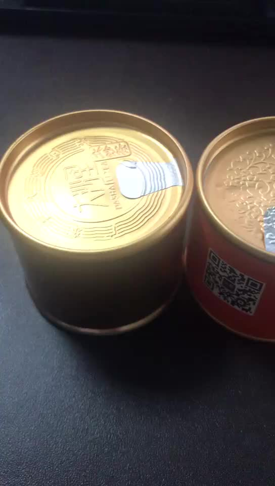 Professional Company Manufacture Round Can High Quality Mini Tea Can