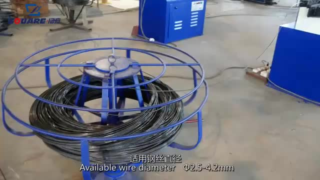 QD-2B स्वत: सोफे वसंत झुकने और काटने की मशीन वक्र वसंत मशीन