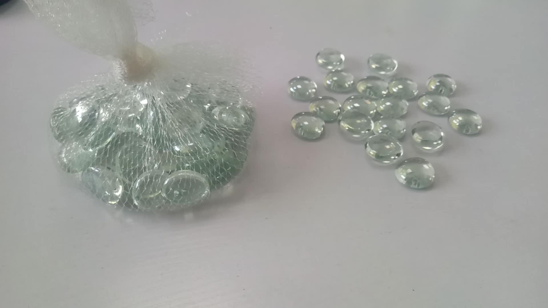colored decorative swirl flat glass gems