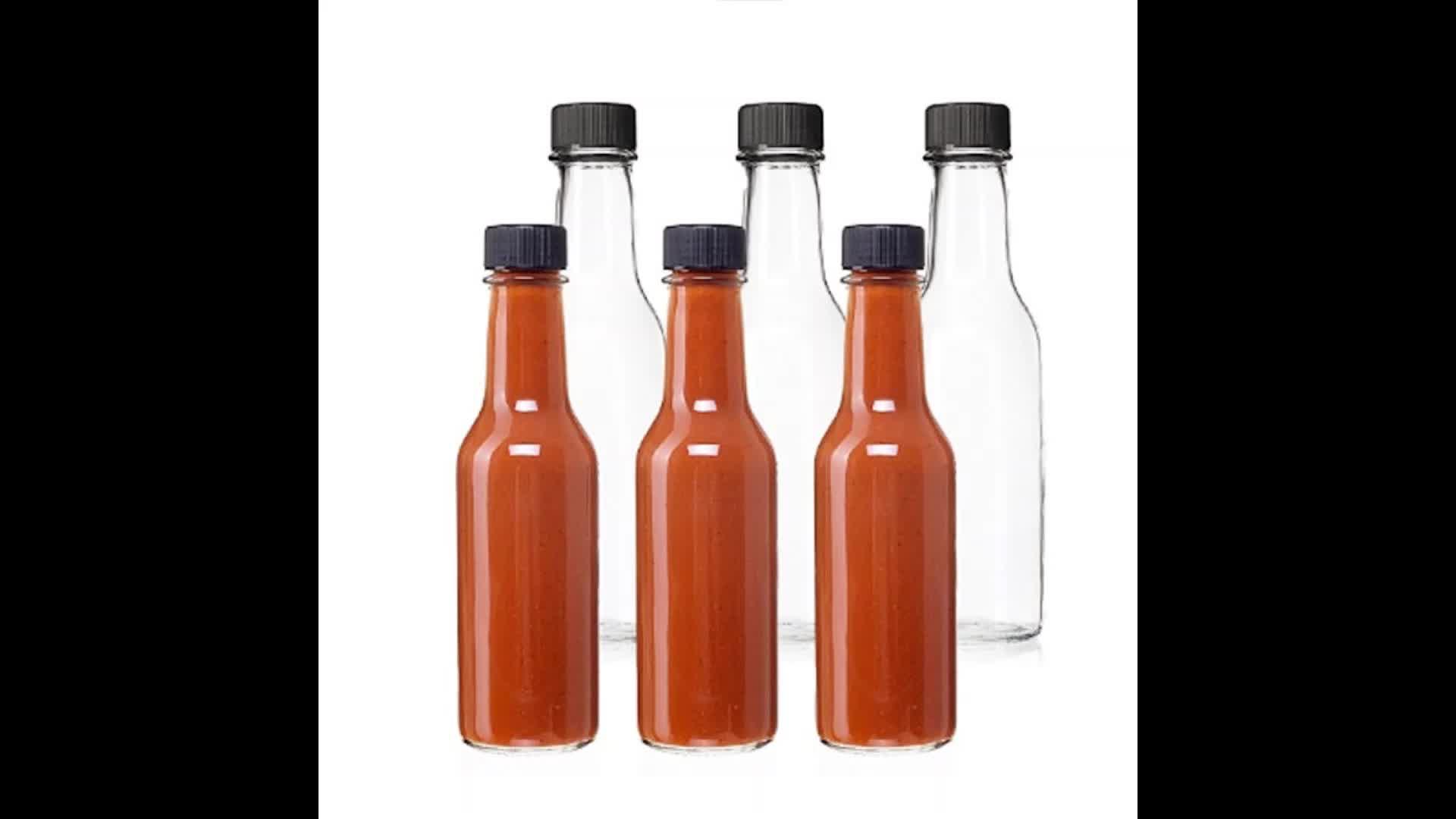 150ml 5oz ketchup barbecue piment sauce woozy bouteille en verre alimentaire