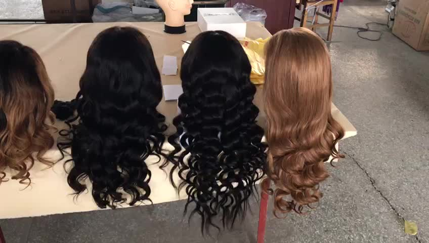 1BTOrange Color Short Human Hair Wig For White Women 10 Inch 150% Density 13*4/13*6 Lace Front Full Lace In Stock