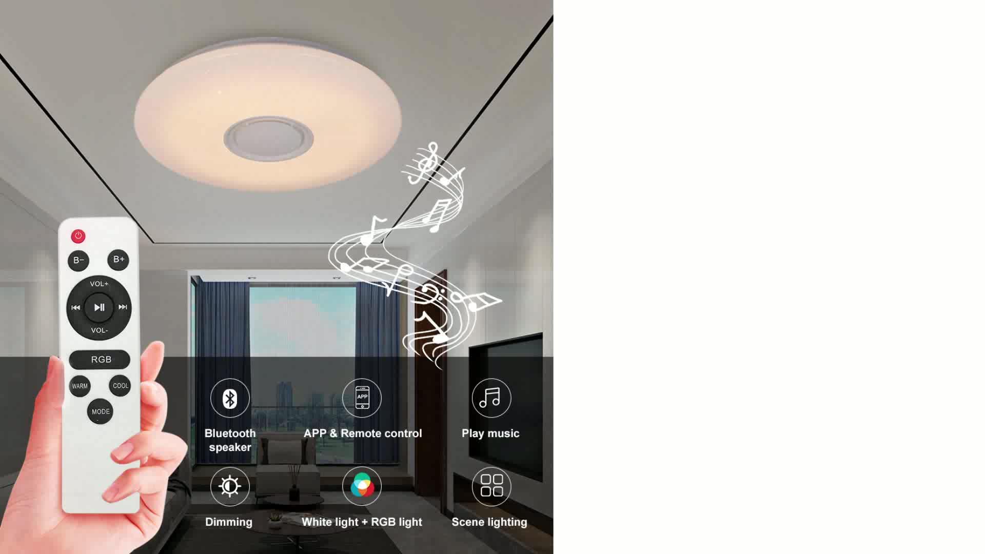 Phone app led ceiling light blueteeth speaker 36W 48W music led ceiling light rgb home hotel decor colorful ceiling led light