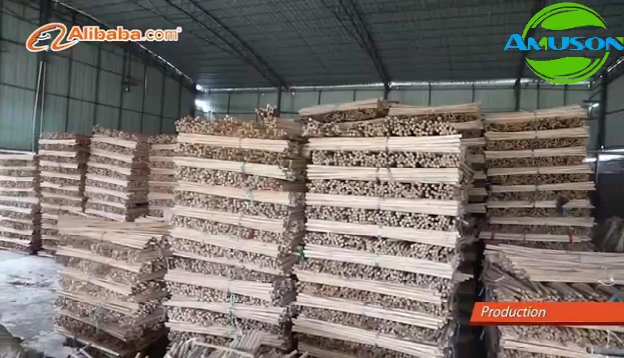 재고 상품 고품질 저렴한 가격 pvc 코팅 나무 빗자루
