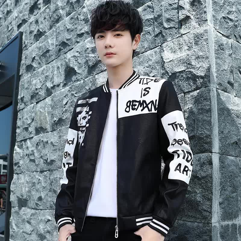 Wholesale fashion custom winter patchwork coats print flight black bomber jacket for men