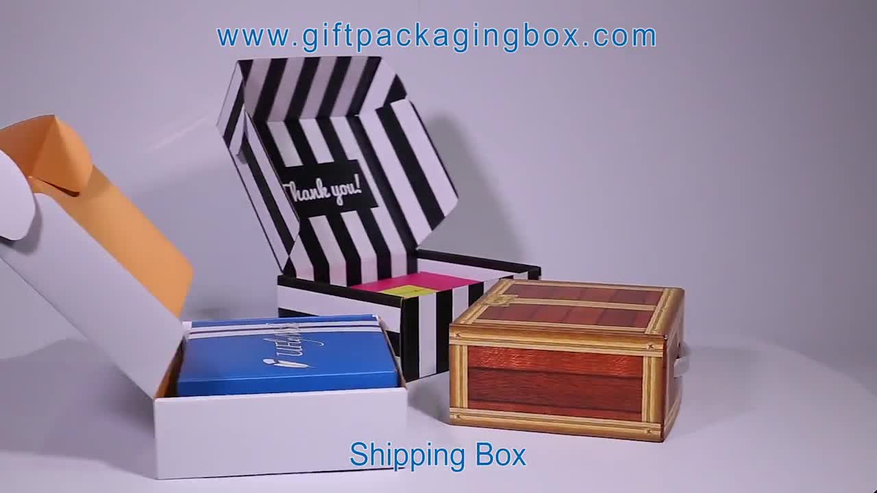 Luxury Design Corrugated Paper Cardboard Shoe Box Packaging