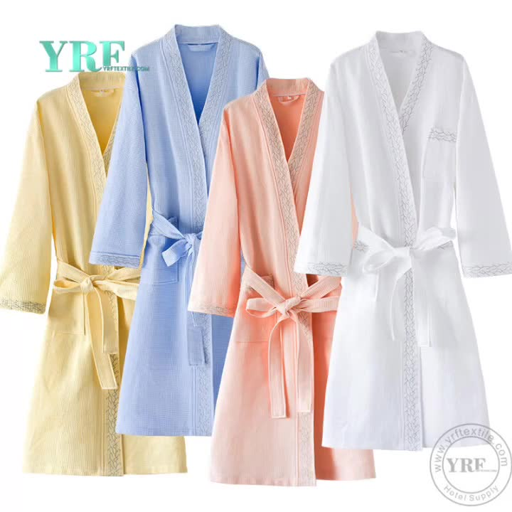 Wholesale White Spa Hotel Luxury Terry Women Kimono Collar Egyptian Cotton Bath Robes