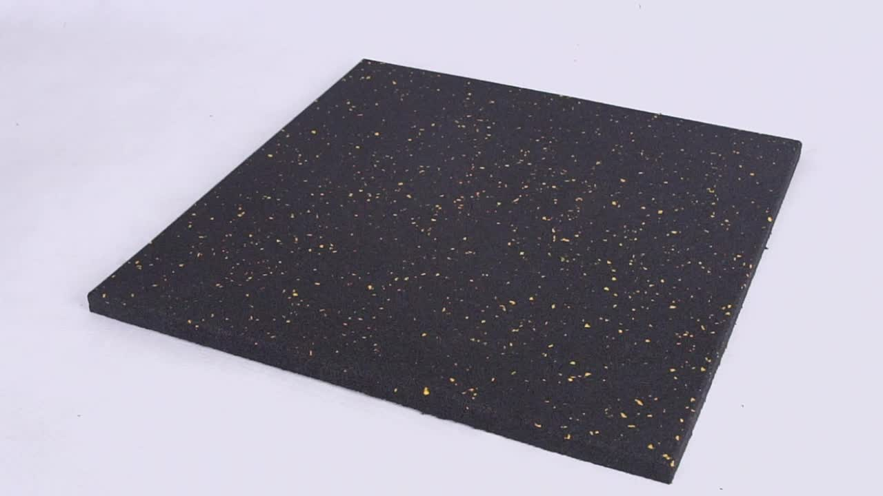 high density with EPDM dots mat Crossfit Rubber Gym Flooring for indoor