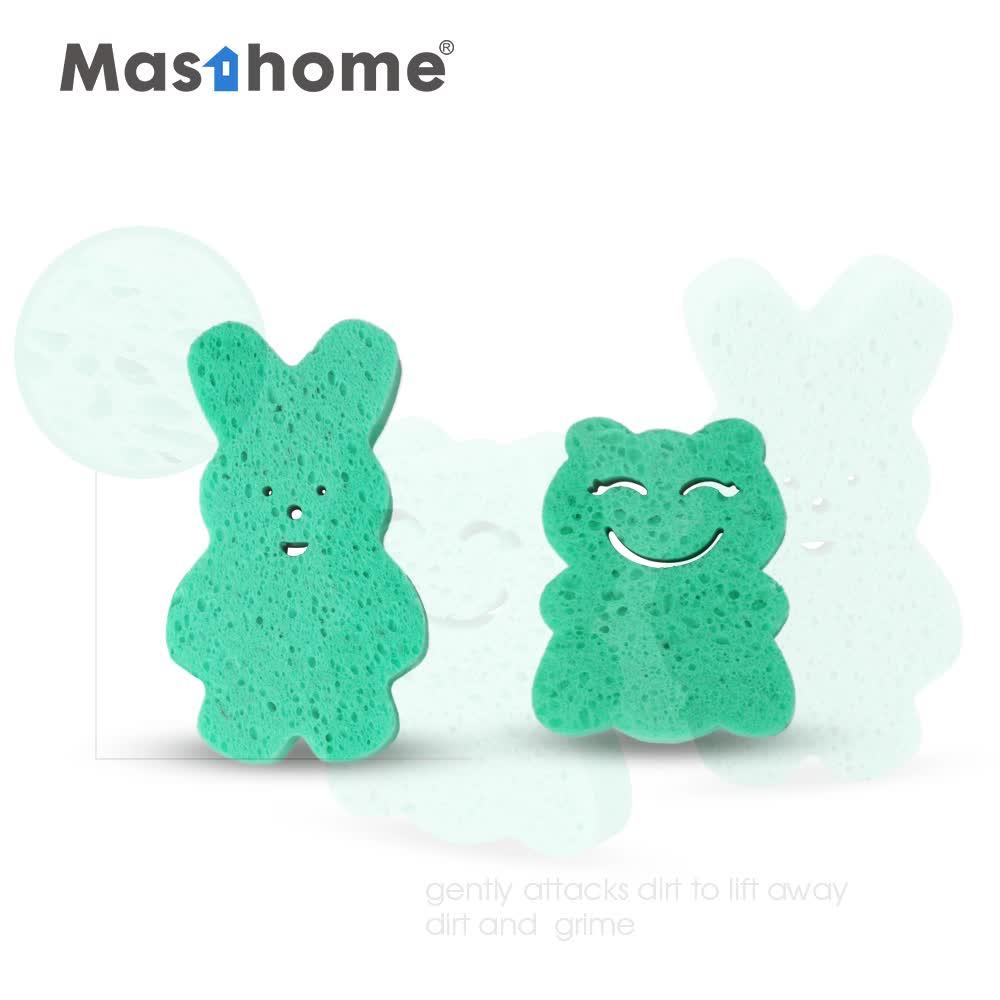 Masthome Lovely cartoon design sponge brush Cloth Cleaning cellulose sponge