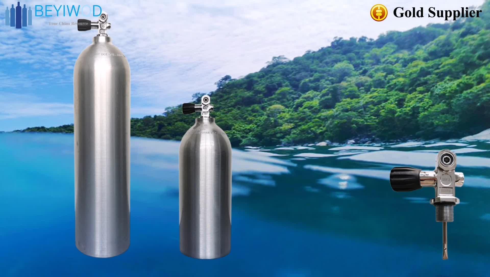 Popüler tüplü dalış tankı alüminyum oksijen hava silindiri