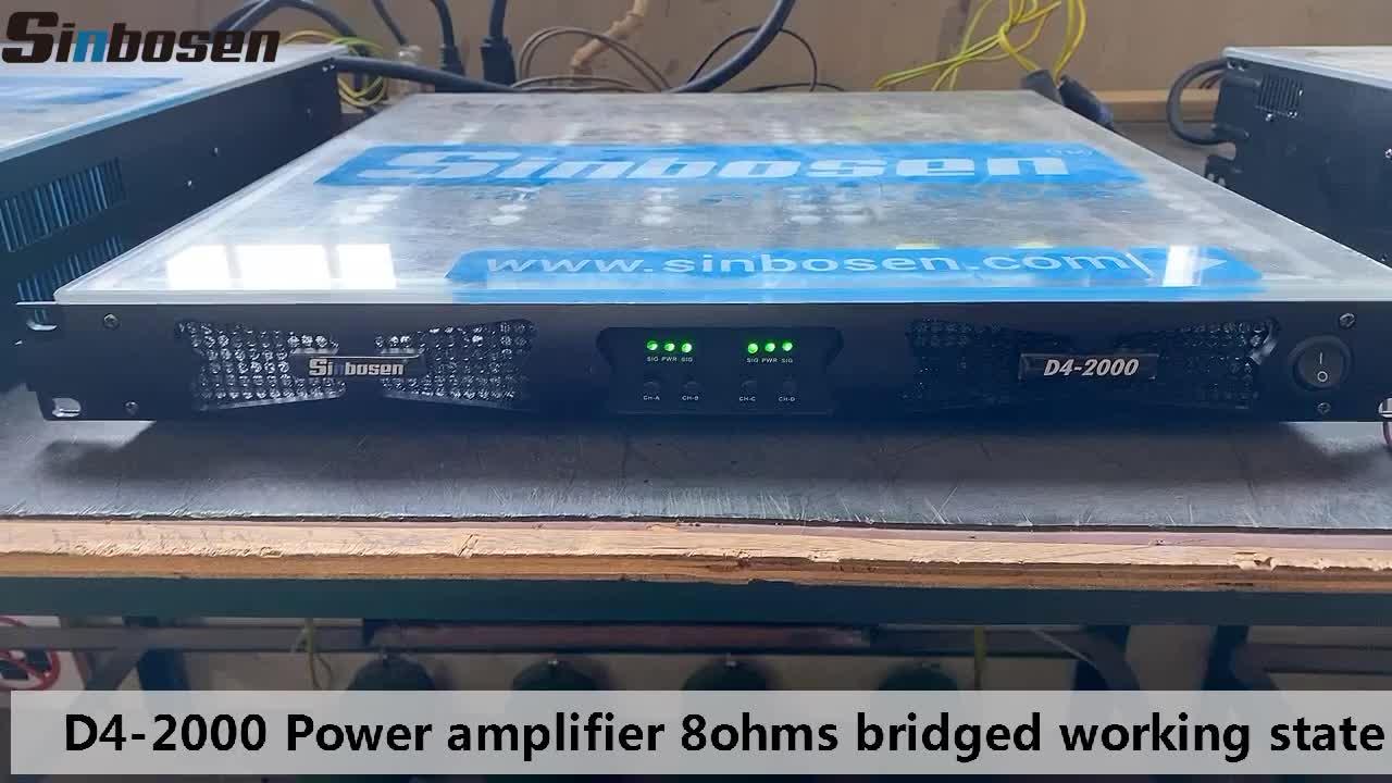 D4-2000 karaoke amplifier class d amplificador de potencia