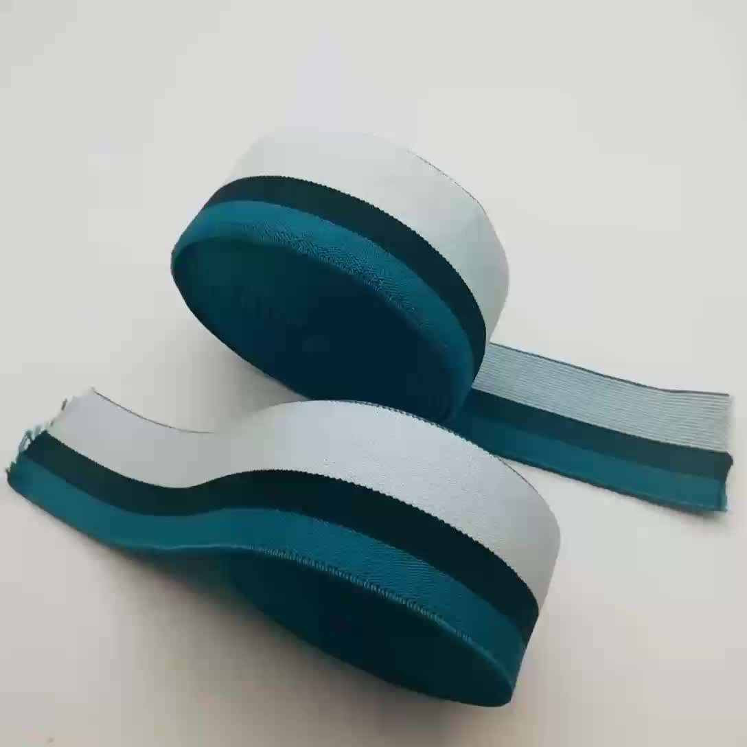 Customized polyester 4cm wide elastic sewing webbing tape
