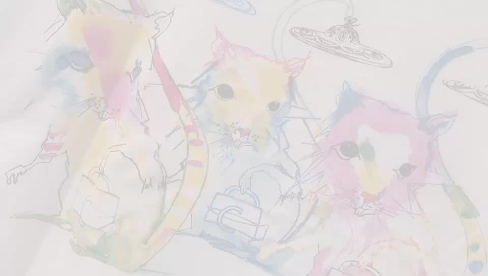实拍2020夏纯棉新款女T恤重工时尚闺蜜老鼠涂鸦潮流数码印花批发