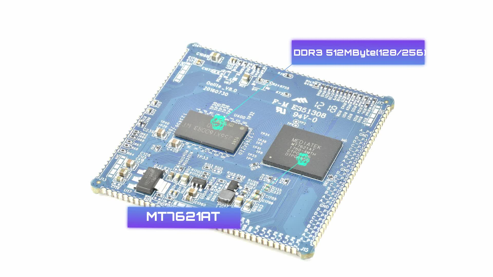 support iot smart wifi module for mt7621a router wifi module