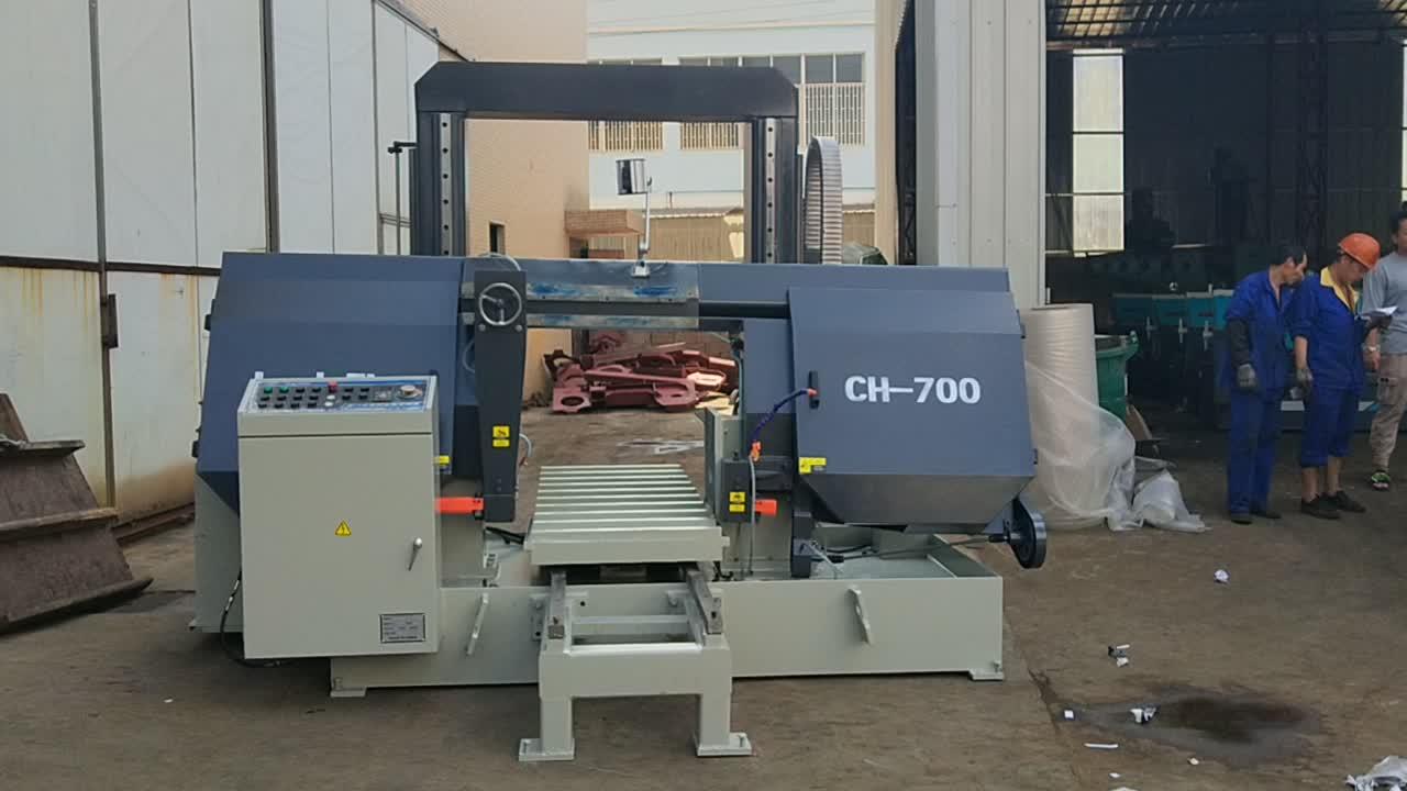 18 months warranty CHINA CE semi Auto Band Saw Machine for metal Cutting