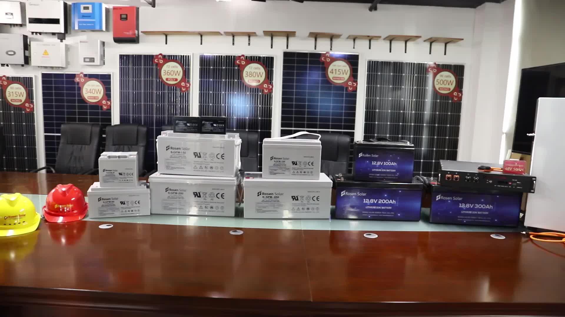 Rosen 400w painel solar mono 450w 500w painel solar para energia solar doméstica