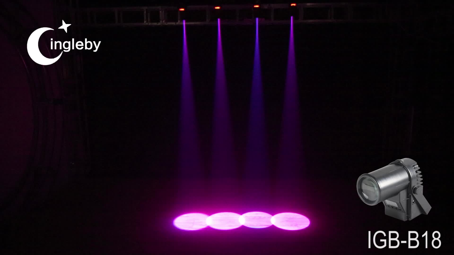 professional stage lighting dimmable LED mini light 12W LED pin spot/RGBW 4in1 dmx led pinspot light