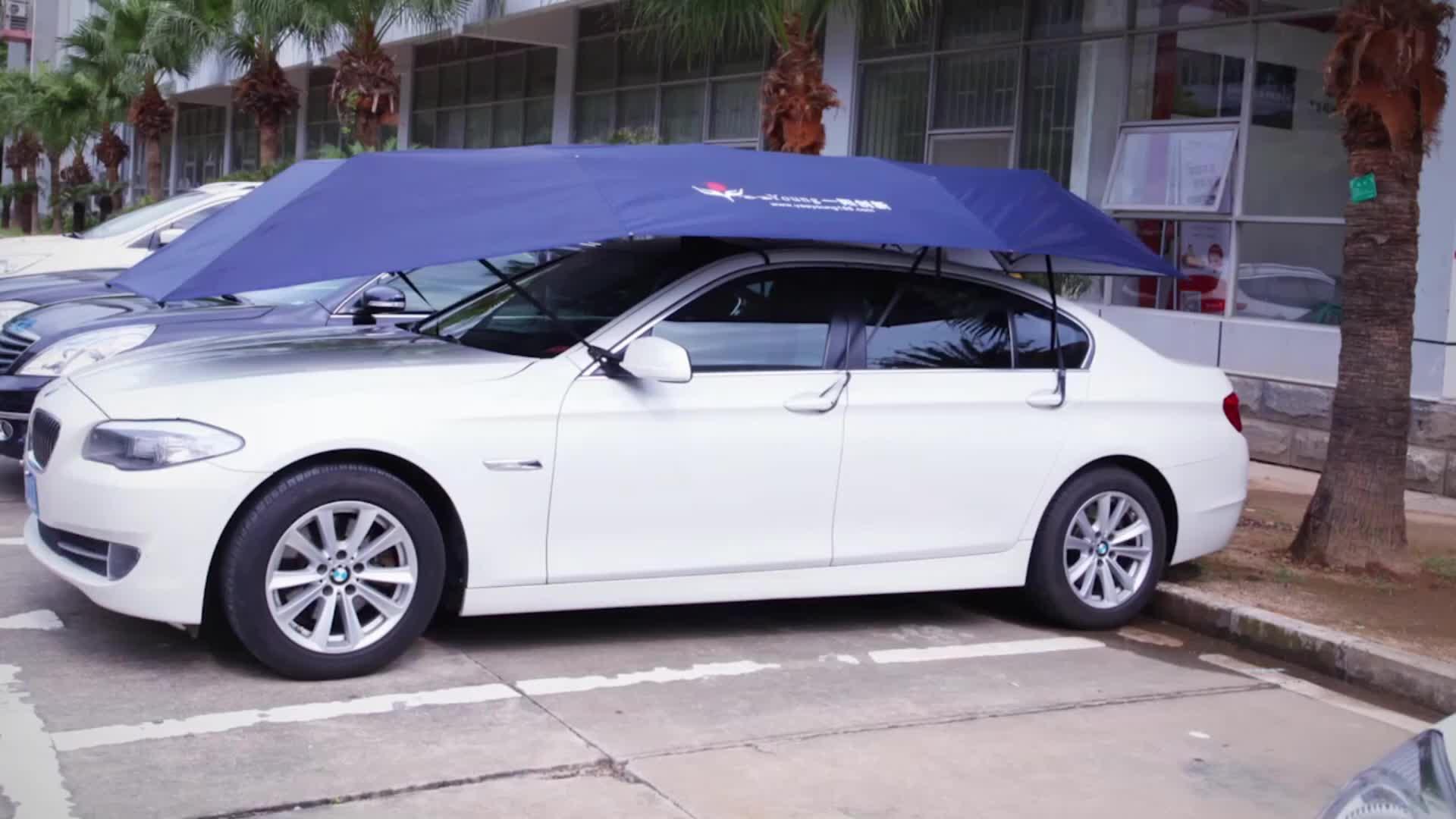 5x2,3 M eléctrico de control remoto granizo protección sunproof cubierta del coche Paraguas automático
