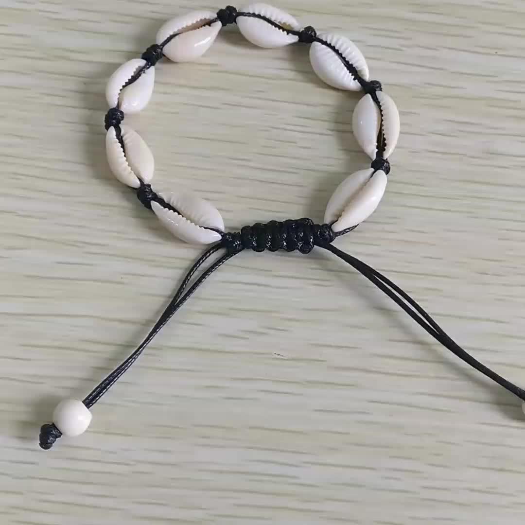 Bohemian Accessories For Women Leather Seashell Foot Jewelry Summer Beach Bracelet Anklet Hawaiian Shell Charm Bracelet