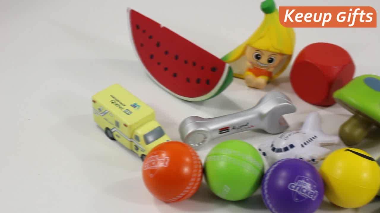 Экологичные материалы гладкая поверхность рекламные товары анти снятие стресса игрушки на заказ логотип печатных стресс шары