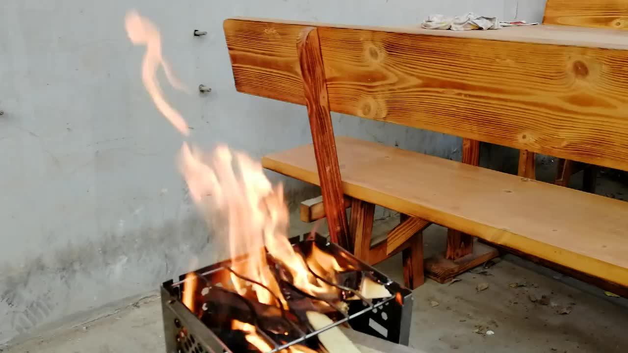Odun yanan kamp soba piknik barbekü ocak/mini taşınabilir katlanır paslanmaz çelik sırt çantası pelet soba