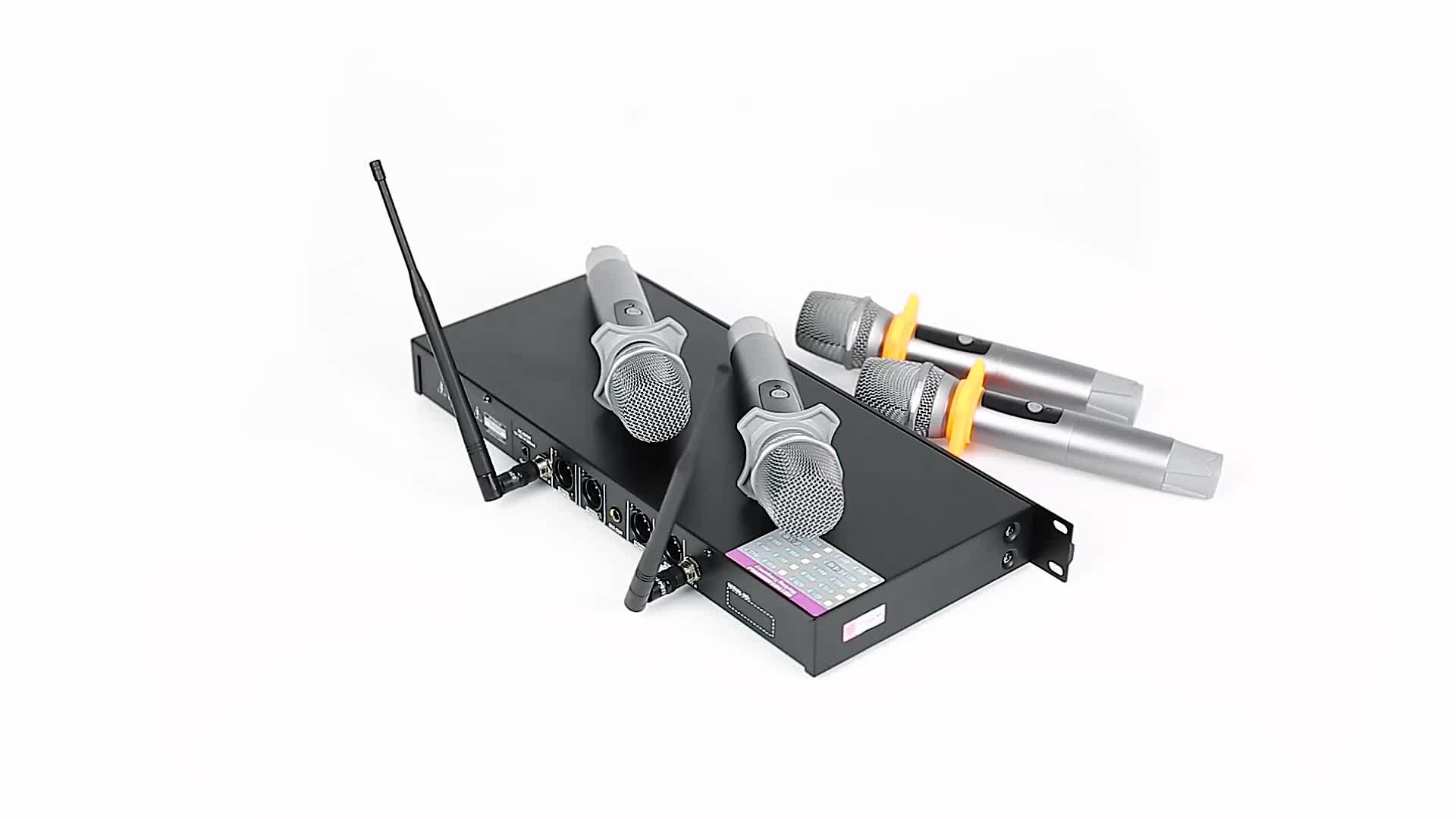 Brand New 4 Canali sistema di microfono senza fili