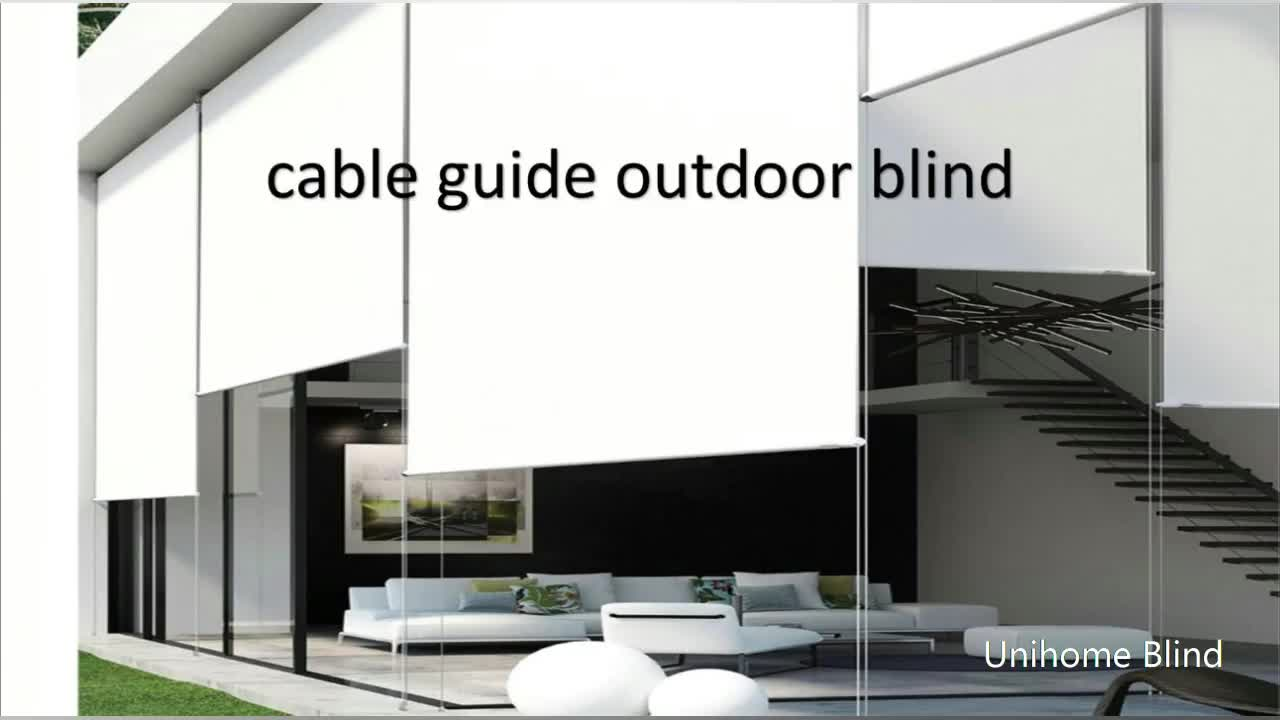 Manual Automatic Steel Wire Guide Exterior Roller Blind