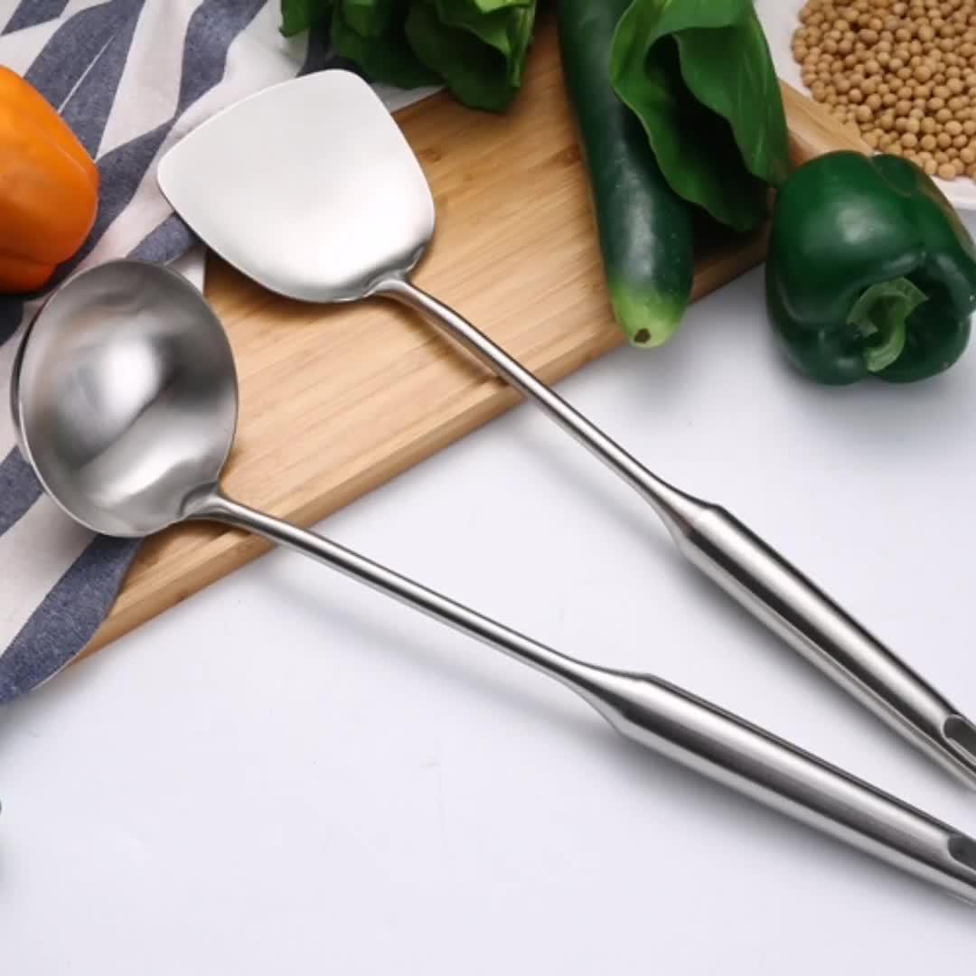 מדיח כלים בטוח 304 נירוסטה מרק מצקת