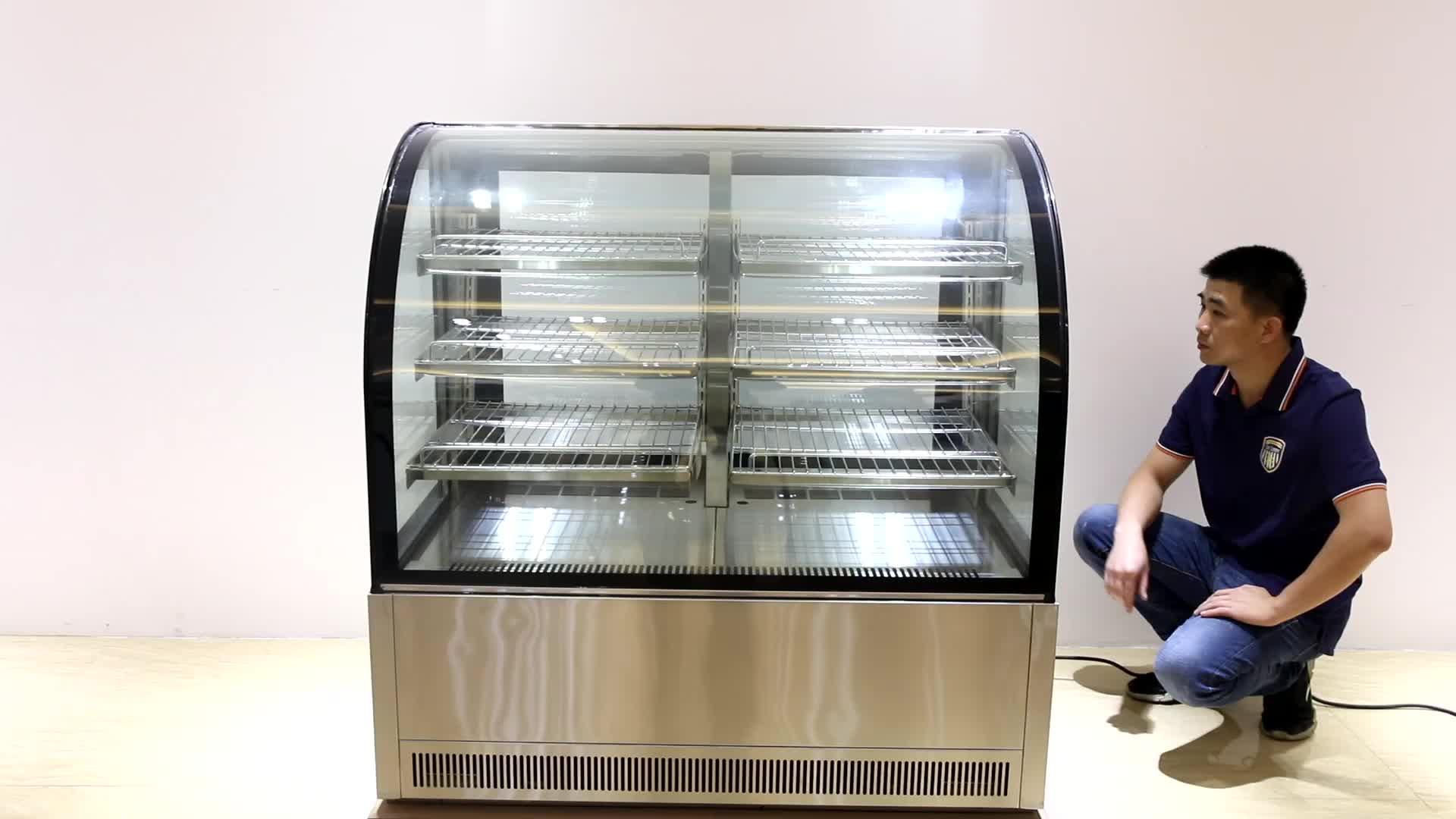 Kommerziellen Edelstahl kühlschrank kälte/Gefrierschrank und Kühlschrank