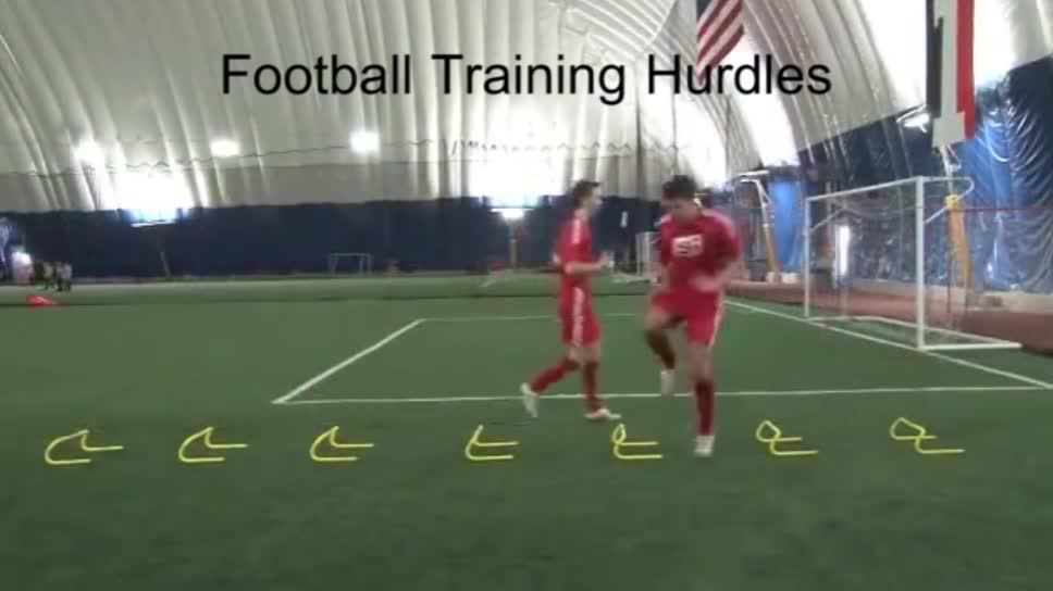 Obstáculos de treinamento de futebol de altura ajustável