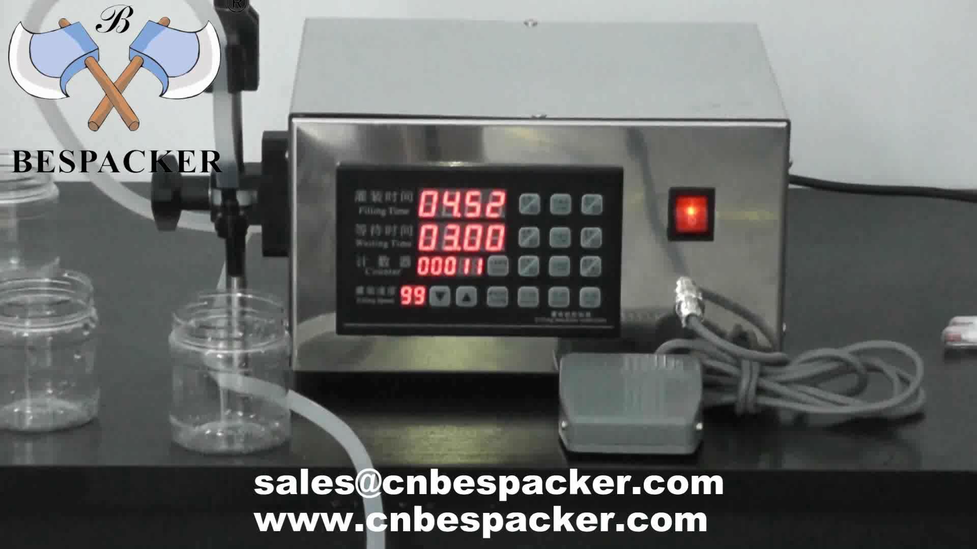 Bespacker máquina de llenado de XK-280 manual botella de agua de botella de bebidas de jugo de leche líquida máquina de llenado de pasta