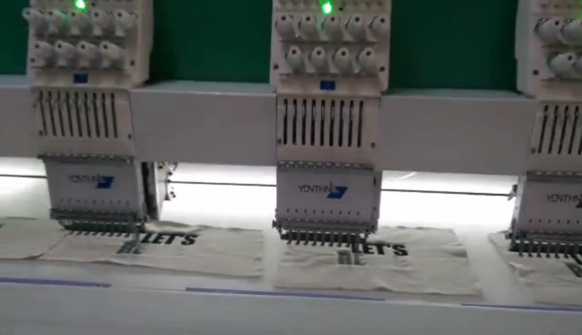 Yonthin Ad Alta Velocità Come Tajima15 Testa Piccola Fornitori di Prezzi Per La Vendita Del Computer Macchina da Ricamo Computerizzata T-Shirt