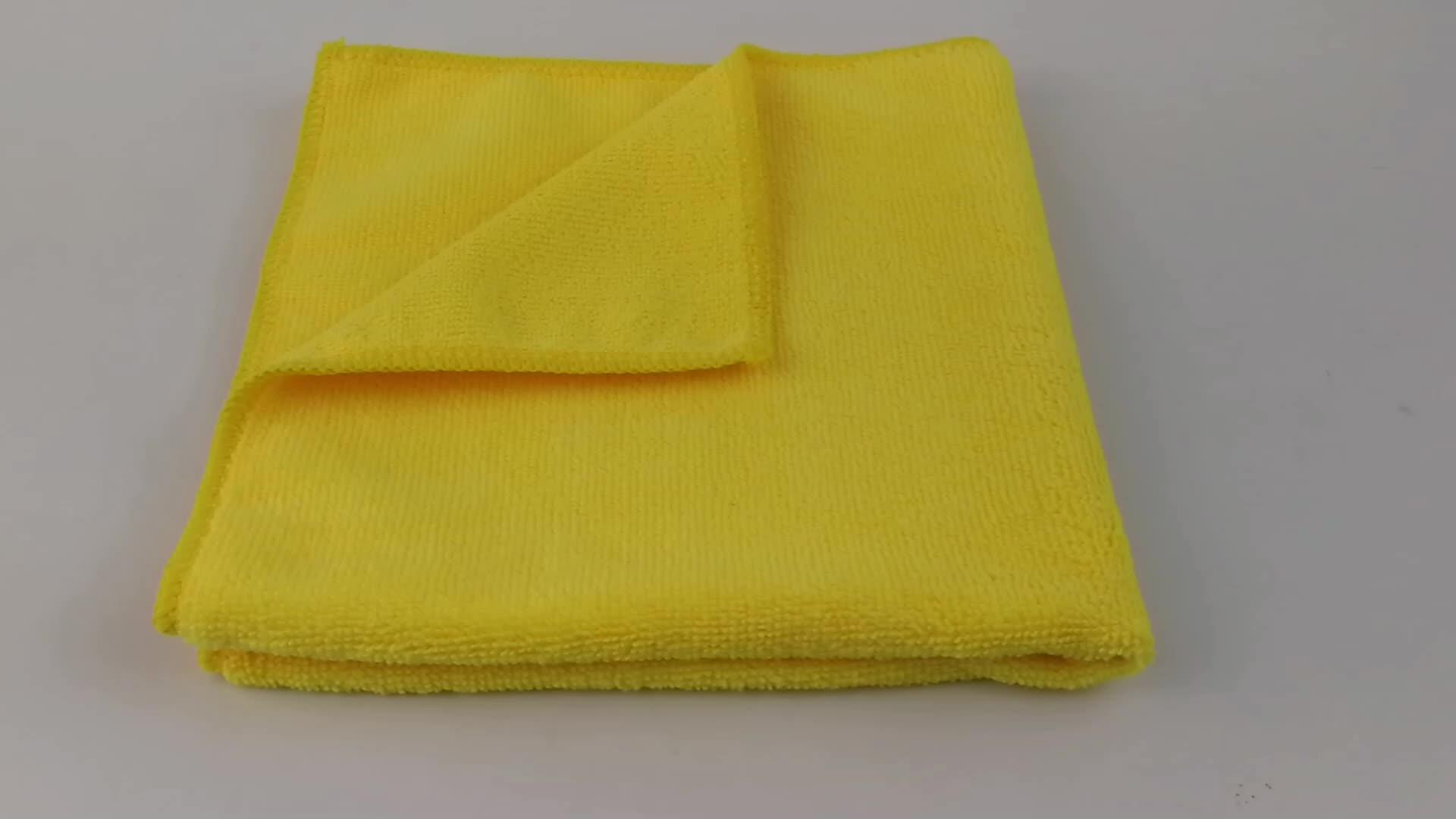 Multi-funzione di commercio all'ingrosso asciugamano in microfibra super assorbente e privo di lanugine micro fibra panno di pulizia prodotti di vetro panno