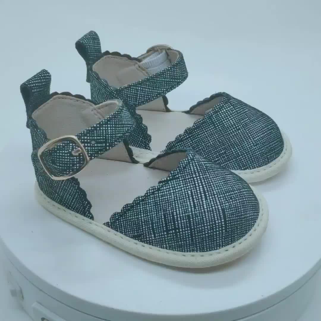Wholesale  Leather Mary Jane Fashion Toddler Girls Leather  Baby Shoes