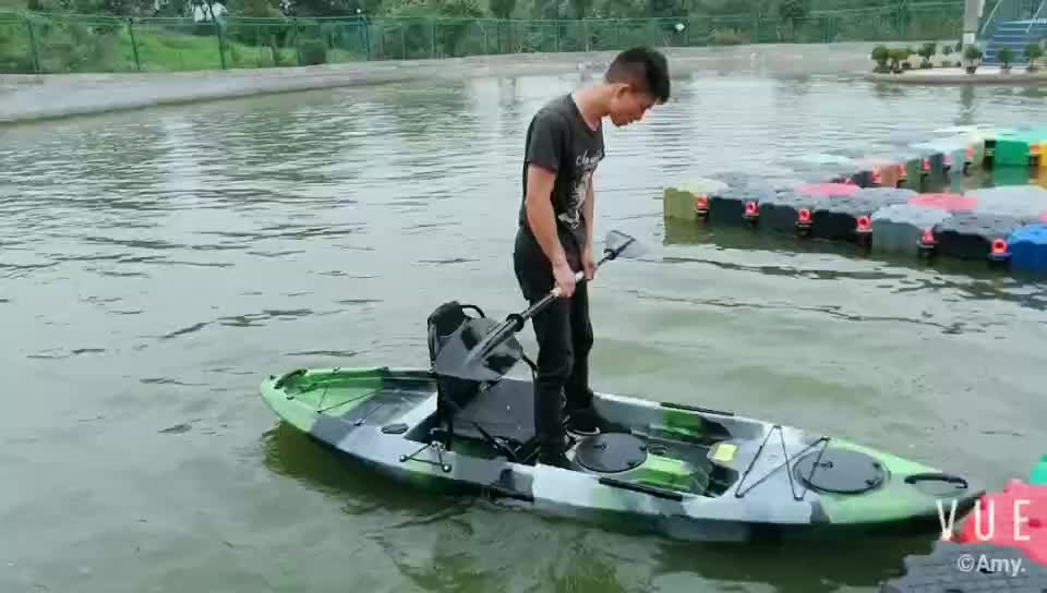 2018 wholesale 10ft cheap plastic single foot pedal sea fishing canoe kayak and boat for sale