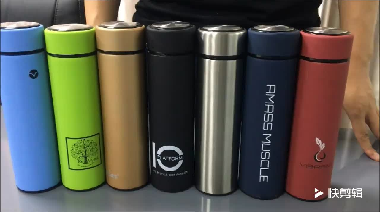 Powder Coated Sweatproof Wide Mouth Double Walled Vacuum Insulated Stainless Steel Water Bottle Cold and Hot