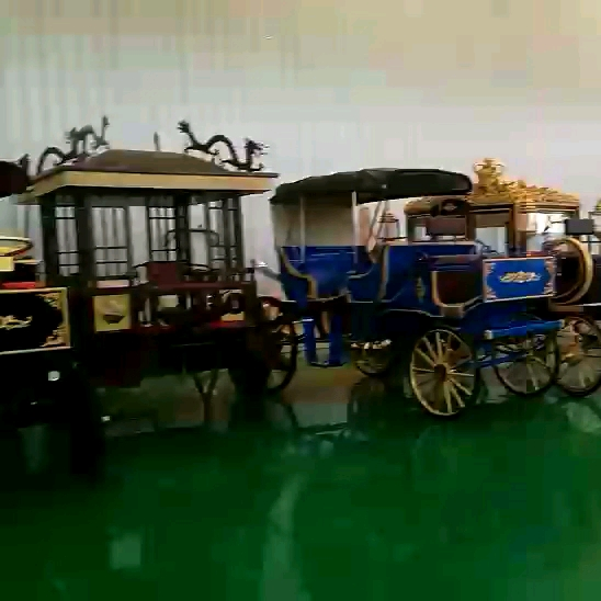 YINUO Vienna hotel exhibition golden royal horse carriage