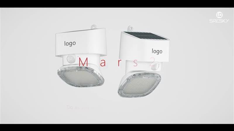 SRESKY new design Mars series outdoor led motion sensor solar power security led lighting solar wall light led for outside